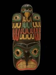 """Настенная декоративная маска из дерева """"Проницательность"""""""