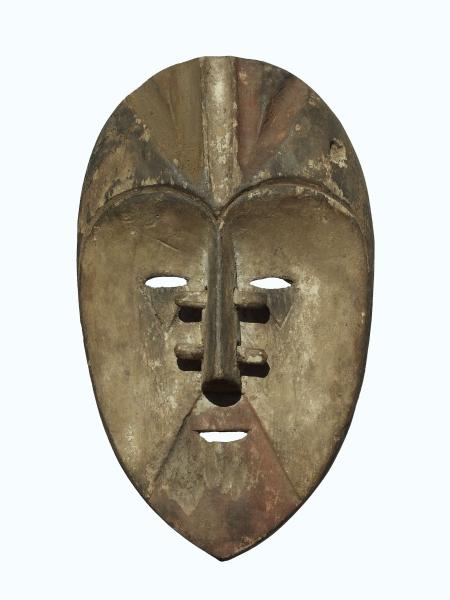 Ритуальная маска народности Tsogo. Страна происхождения - Габон