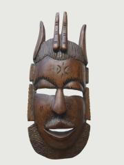Настенная деревянная маска хитреца и плута Йо