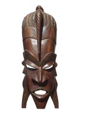 """Настенная африканская декоративная маска из красного дерева """"Герой"""""""