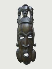"""Настенная африканская маска из эбенового дерева """"Сундьята"""""""