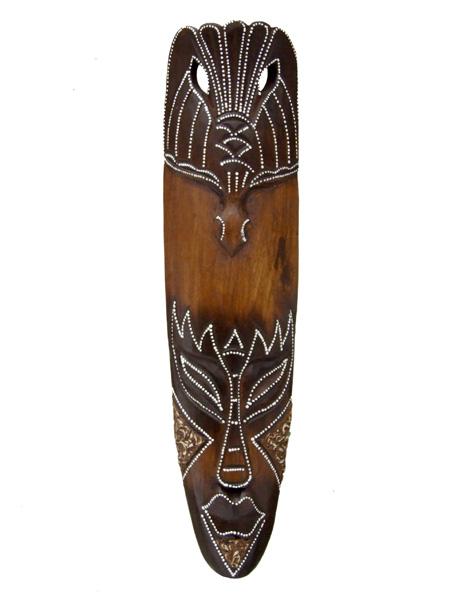 Деревянная маска из Индонезии Птица счастья