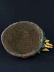 Маска шлем народности Yoruba культа предков Gelede. Страна происхождения - Бенин