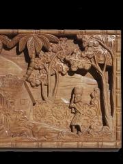 Африканское панно из дерева. Сделано на Мадагаскаре