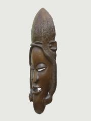 """Декоративная настенная африканская маска из красного дерева """"Змееборец"""""""