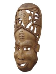 "Настенная декоративная маска ""Белая Африка"""