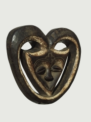 Африканская маска Kwele, Габон, Конго
