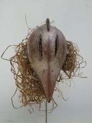 Ритуальная африканская маска народности Dan, изображающая птицу