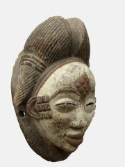 Купить старую африканскую маску Punu с доставкой по России. Цена 8200 рублей арт 1677