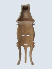 """Купить в галерее """"Афроарт"""" настенную африканскую маску из дерева """"Триединство"""""""