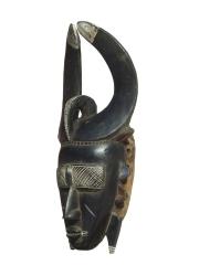 Ритуальная маска народности Jimini. Страна происхождения -Кот-д'Ивуар