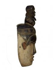Африканская маска фетиш народности Bakongo (Конго) с тремя лицами