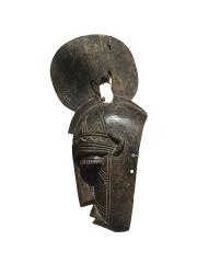 Великолепная объемная африканская маска с тонкой резьбой по дереву народности Bobo
