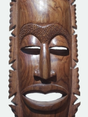 """Купить африканскую маску из твердого дерева """"Союзник"""""""