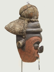 Шлем маска народности Yaka (Демократическая Республика Конго)