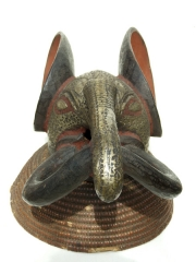 Африканская маска слона Babanki, страна происхождения Камерун