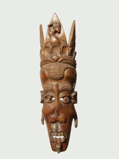 """Африканская настенная маска из твердого дерева """"Матриархат"""""""