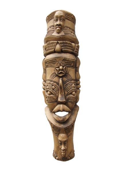 """Настенная маска из дерева, изображающая семейное дерево """"Семья"""""""