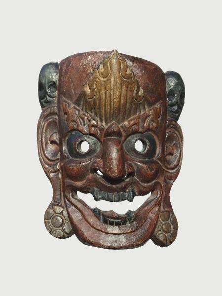 Тибетская маска Джокера из дерева