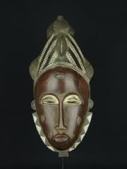 Ритуальная африканская маска народа Бауле (Baule), Кот-Дивуар