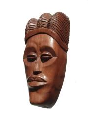"""Африканская маска из красного дерева """"Модель"""""""