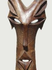 """Настенная маска """"Страж"""" из твердой породы дерева для защиты"""