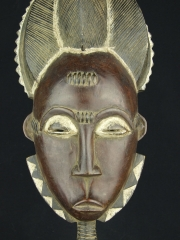 Портретная африканская маска народа Бауле (Baule), Кот-Дивуар