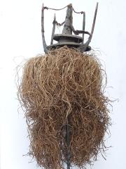 Прекрасный шлем маска народности Yaka, используемый в ритуале инициации юношей