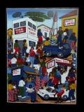Картина «Мобильный город» [Танзания] 59*79 см