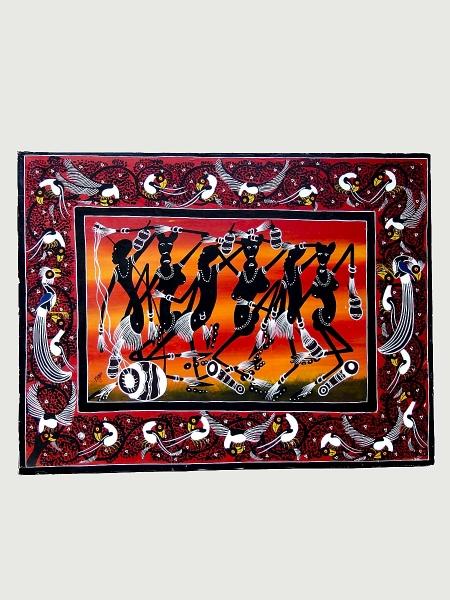 """Африканская картина """"Танец"""" в стиле Тингатинга (Танзания)"""