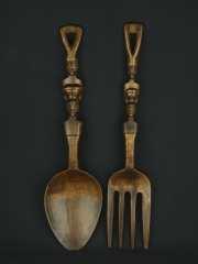 Декоративные вилка и ложка из дерева народности Ifugao