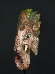 Маска индийского бога мудрости и благополучия из дерева «Ганеша»