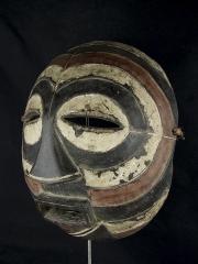 Круглая африканская маска Kifwebe