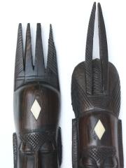 Маски из эбенового дерева «Пара» - мужчина и женщина