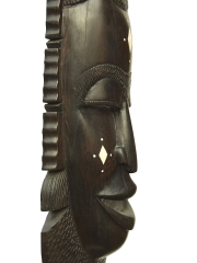 """Настенная декоративная африканская маска из эбенового дерева """"Союзник"""""""