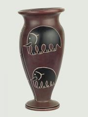 Африканская ваза из натурального камня высотой 15 см