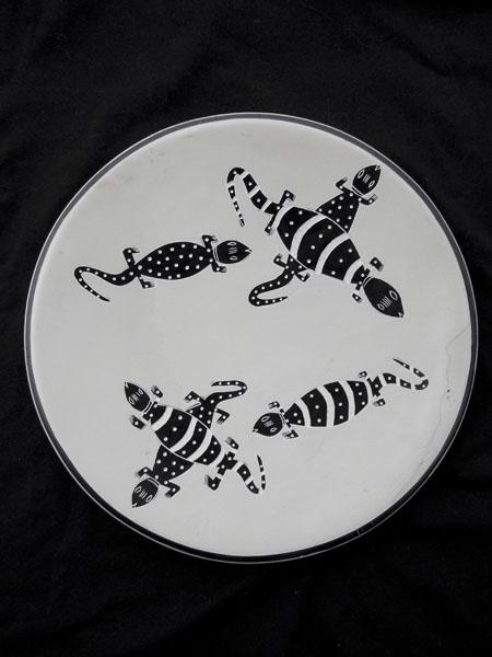 Африканская декоративная тарелка на стену овальной формы в этническом стиле