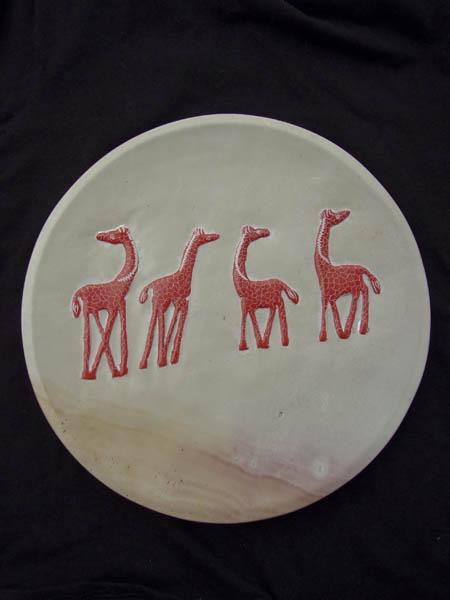 Африканская декоративная тарелка из натурального камня производства Кения