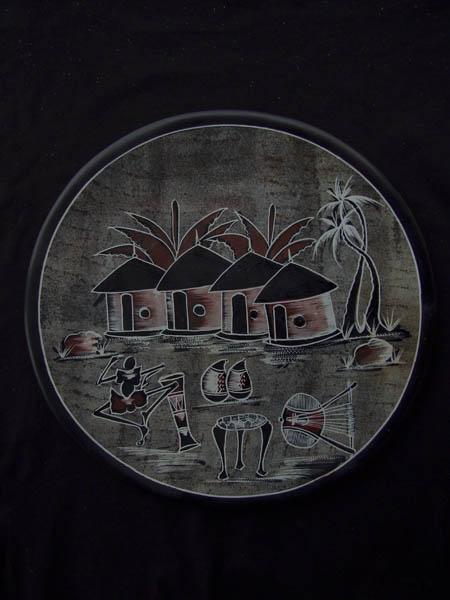 "Тарелка на стену серии ""Домики"""