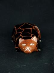 Фигурка лежащей кошки из натурального камня талькохлорит. Сделано в Кении 1683-3