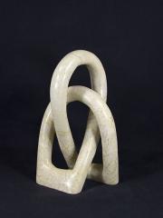 """Африканская статуэтка из натурального камня талькомагнезит """"Узел"""""""