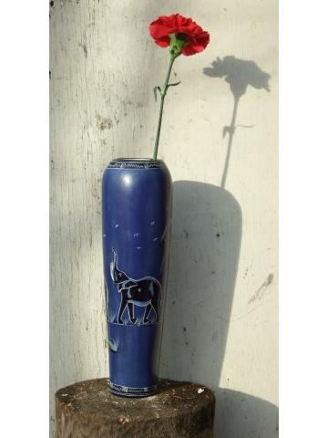 """Африканская ваза из камня """"Ночь слонов"""", сделана в Кении"""