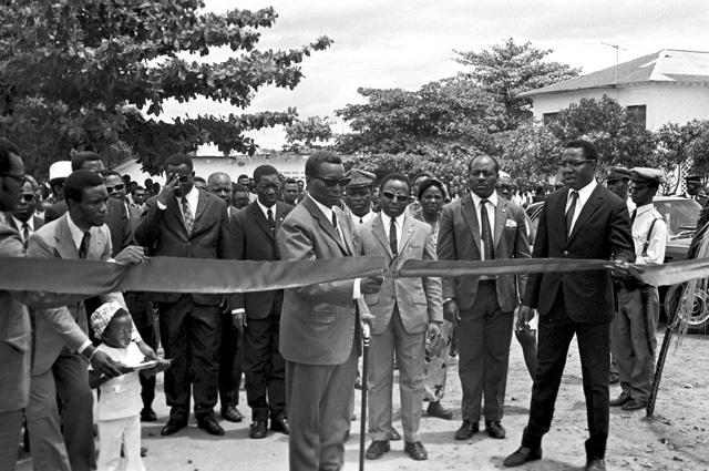 Президент Франсиско Масиас Нгема на церемонии открытия нового административного здания. 1973 г. Фото: РИА Новости / В. Снеговский
