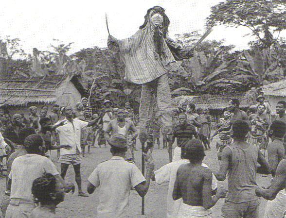 Проводы покойника у народности Punu (Габон)