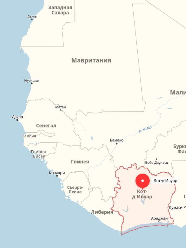 Регион проживания народа Yaure