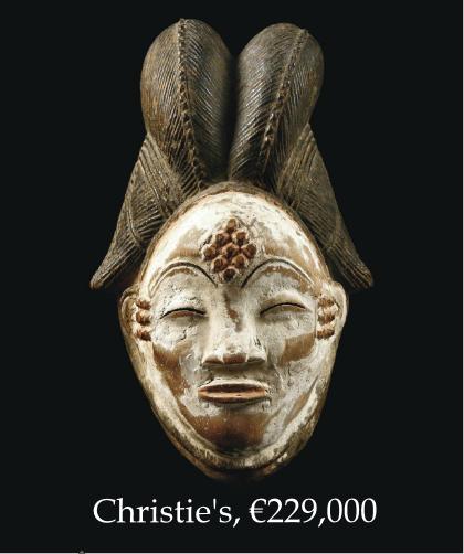 Африканская маска Punu на аукционе Christie's