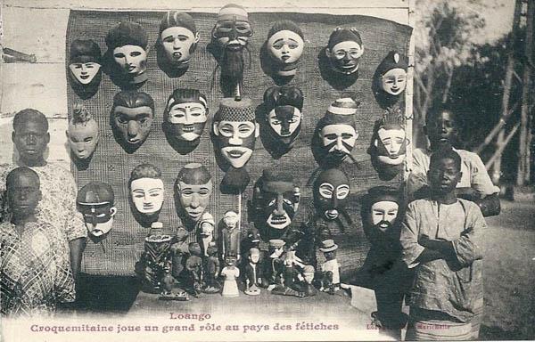 Продавцы масок в Конго в начале 20 века