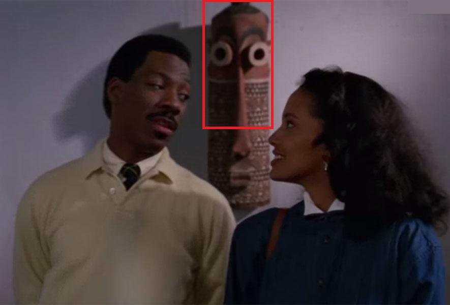Кадр из фильма «Поездка в Америку» с использованием африканской маски народности Pende (Конго)