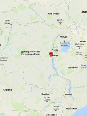Центр проживания народности Bembe в Конго